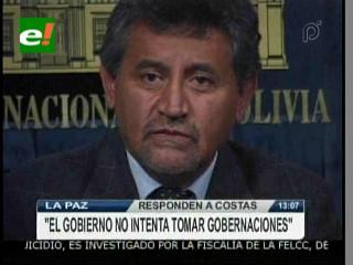 Ministro Canelas: «Gobierno no intenta tomar las gobernaciones»