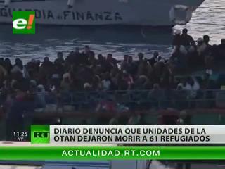 Diario denuncia que unidades de la OTAN dejaron morir a 61 refugiados africanos