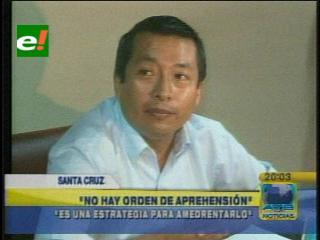 Defensa de Alcides Vargas niega que haya una orden de aprehensión en su contra