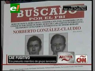 """EEUU: Cae fugitivo, era presunto miembro del grupo terrorista """"Los Macheteros"""""""