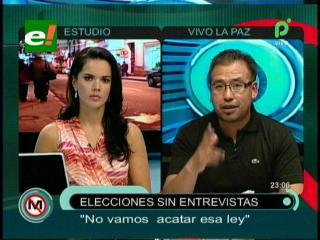 Andrés Gómez: «La ley del régimen electoral está mal hecha, no la acataremos»