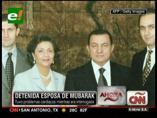 Detienen a la esposa de Hosni Mubarak