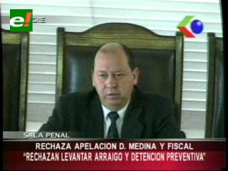 Sala penal de la Corte de Chuquisaca rechazó apelación de Samuel Doria Medina