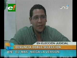 Diputado Monasterio denuncia doble selección de candidatos a jueces y magistrados, MAS niega la versión