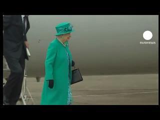 La reina Isabel II llega a Irlanda en una visita histórica