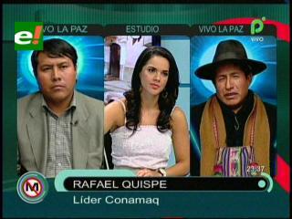 """Rafael Quispe: """"CONAMAQ no será cómplice de una elección judicial anticonstitucional"""""""