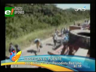 Policía desbloquea de manera violenta la zona de «El Puente»