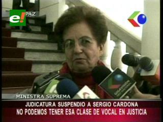 Consejo de la Judicatura suspendió al Vocal Sergio Cardona