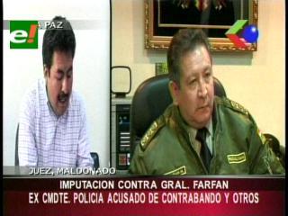 Imputación contra el ex comandante Ciro Farfán por el caso de las placas clonadas