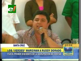Los «VERDES» marginan a Ruddy Dorado, es el primer disidente de la agrupación de Costas