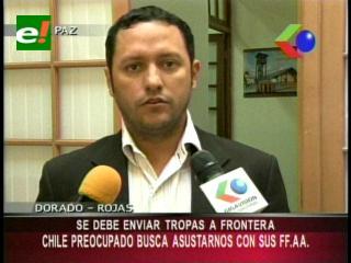 """Diputado Dorado: """"El Estado debe enviar militares a la frontera con Chile"""""""