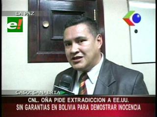 Caso Sanabria: Raul Oña solicitó su extradición a EEUU