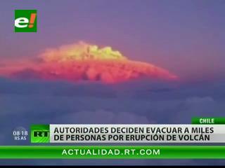 Más de 3.500 evacuados tras la erupción de un volcán en Chile