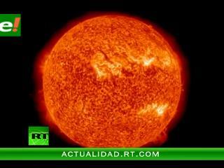 Expectacular estallido solar filmado por la NASA