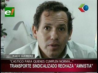 "Transporte público rechaza promulgación de Ley de Amnistía para vehículos ""chutos"""