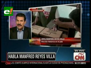 Manfred habló en CNN, espera una respuesta de la Interpol Francia sobre su orden de captura internacional