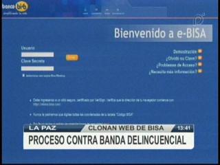 Delincuentes informáticos clonan la página web del banco Bisa