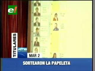 TSE sorteó la ubicación de los candidatos al Órgano Judicial en la papeleta electoral