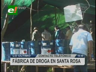 Santa Cruz: Felcn descubre mega laboratorio de cocaína en Santa Rosa del Sara