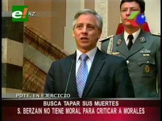 """García Linera: """"Sánchez Berzaín busca tapar sus muertes criticando las acciones del Gobierno"""""""