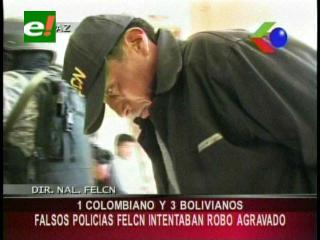 Detienen a cinco falsos policías de lucha antidroga que atracaban en La Paz