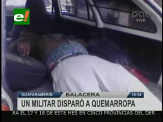 Guayaramerín: Oficial militar disparó contra una familia, mató a uno