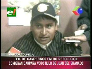 Federación de Campesinos de Chuquisaca condena campaña por el voto no del MSM