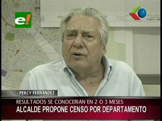 Percy Fernández propone censo por departamento