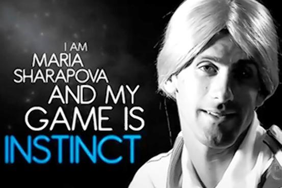 """Djokovic se """"convierte"""" en Sharapova en un anuncio publicitario"""