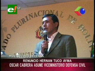 Posesionan a Oscar Cabrera como nuevo viceministro de Defensa Civil