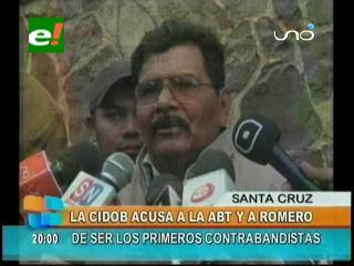 Cidob acusa a la ABT y a Carlos Romero de ser los primeros contrabandistas de madera