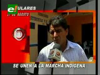 Campesinos de Santa Cruz se unirán a la marcha indígena