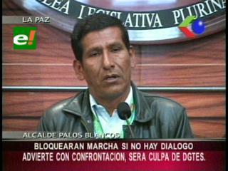 """Pobladores de Palos Blancos amenazan con bloquear marcha indígena, Cidob los califica de """"colonizadores masistas"""""""