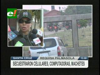 Requisa sopresiva en Palmasola, encontraron celulares, machetes y computadoras