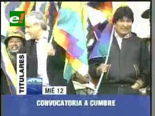 Evo Morales convoca a cumbre para elaborar una nueva agenda social