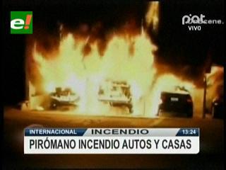 Alerta en Hollywood: pirómano incendió autos y residencias famosas