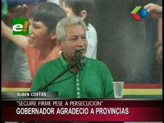 Rubén Costas recibió apoyo de las 15 provincias cruceñas