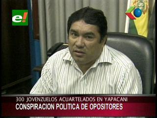 Concejal Ávalos denuncia conspiración de opositores contra el ex alcalde de Yapacaní