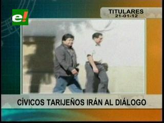 Cívicos tarijeños irán al diálogo con los chuquisaqueños y el Gobierno en Cochabamba