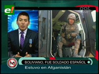 Teddy Rodríguez, el boliviano que combatió en Afganistán