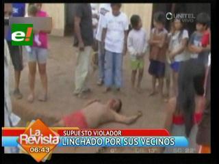 Perú: Vecinos linchan a sujeto acusado de violación