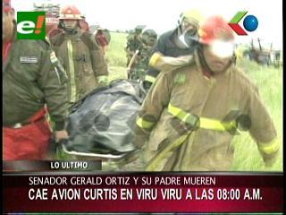 Imágenes del lugar donde cayó el avión de Gerald Ortiz