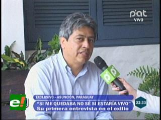 """Mario Cossío: """"Sigo siendo el Gobernador de Tarija, el régimen de Morales me derrocó"""""""