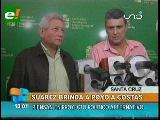 Ernesto Suárez llegó a Santa Cruz para brindarle su apoyo a Rubén Costas