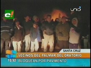 Santa Cruz: Bloquean ruta a campo gasífero en demanda de asfalto