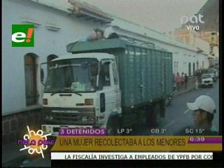 Felcc detiene camión con 40 niños que iban a ser explotados en Sucre
