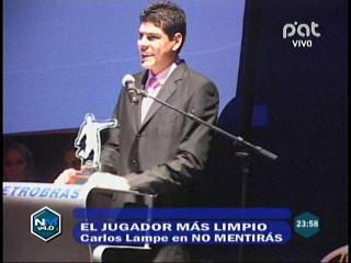 Carlos Lampe se llevó el premio Fair Play Petrobras