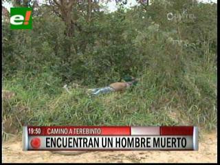 Hallan cadáver de un joven en el camino a Terebinto