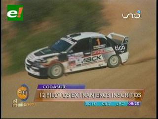 12 pilotos extranjeros inscritos para el Rally Codasur