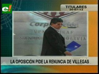 Corrupción en YPFB: Oposición pide la renuncia de Carlos Villegas
